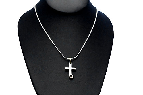 Necklace Cross/Paw Print