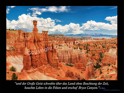 Bryce Canyon Poster 18x24 (German)