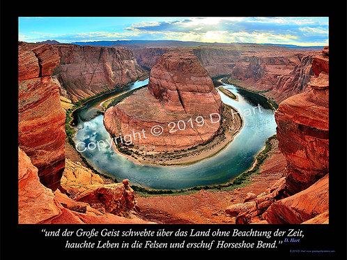 Horseshoe Bend Poster 24x36 (German)
