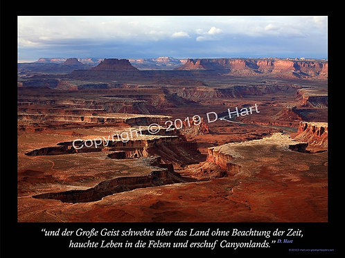 Canyonlands Poster 18x24 (German)