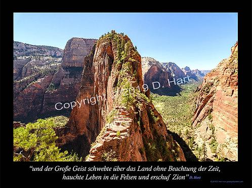 Zion Poster 18x24 (German)