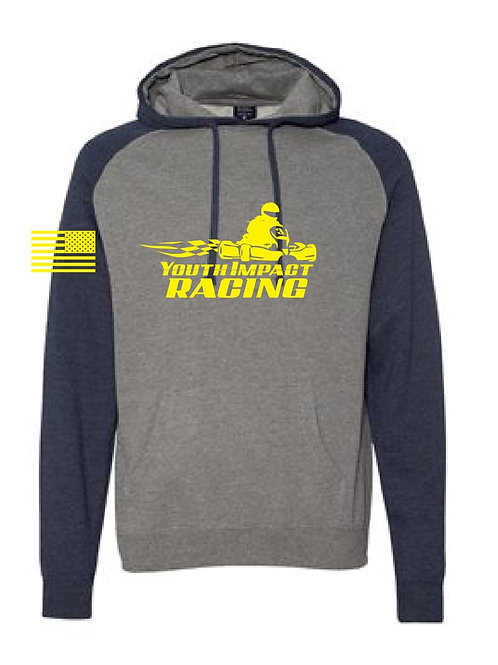 Gray/Navy Blue Two Tone YIR Logo Hoodie