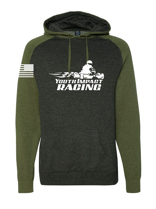 Black/Army Green Two Tone YIR Logo Hoodie