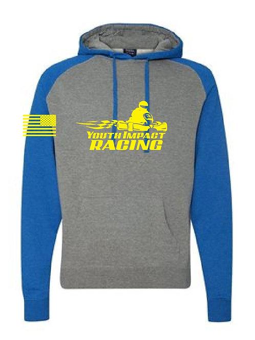 Gray/Blue Two Tone YIR Logo Hoodie