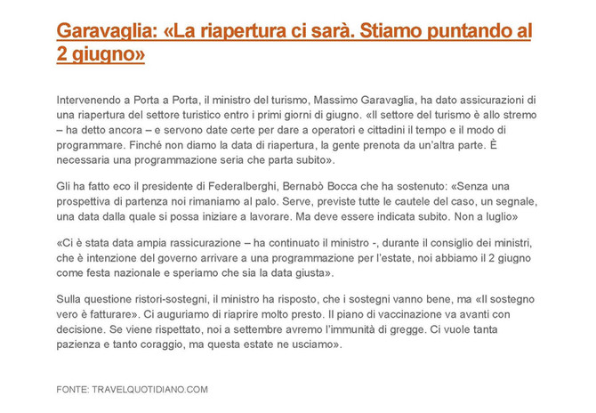 Estate 2021 - Rassegnazione e realismo degli Italiani