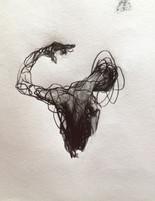 """Blast, 2016, Pencil on Paper, 8""""x8"""""""