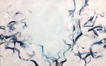 "Disperse, 2015, Acrylic on Canvas, 24""x38"""