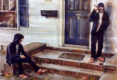 "Conscience, 2014, Oil on Canvas, 16"" x 20"""