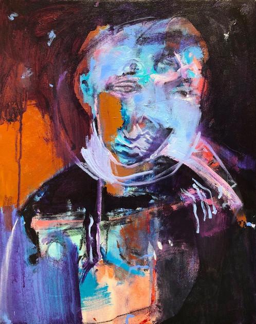"""Altered, 2020, Acrylic on Canvas, 16""""x20"""""""
