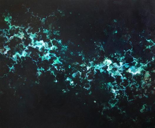 "Static, 2015, Acrylic on Canvas, 26""x36"""