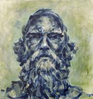"William Cullen Bryant Portrait (Bryant Park Corporation: 2015 Painter in Residence Program), Acrylic on Canvas, 14""x16"""