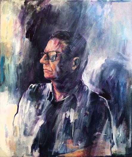 """Mark, 2018, Acrylic on Canvas, 26""""x22"""""""