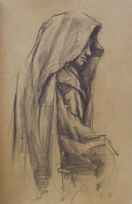 "Shroud, 2014, Pencil on Paper, 6""x8"""