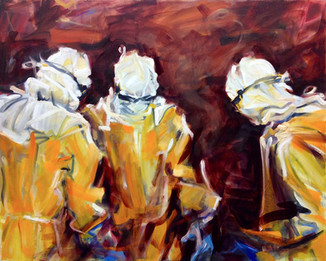 "Hazmat, 2014, Oil on Canvas, 42"" x 50"""