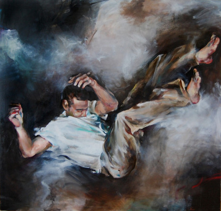 """Release, 2014, Oil on Canvas, 48"""" x 52"""""""