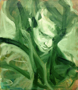 """In Green, 2015, Oil on Canvas, 20""""x16"""""""