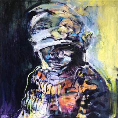 "Disguise, 2020, Acrylic on Canvas, 20""x20"""