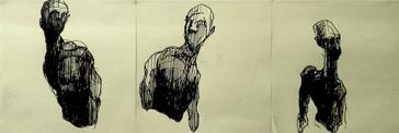 Trio, 2016, Pen on Post-it