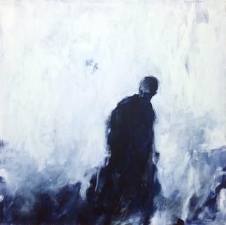 "Pull, 2016, Acrylic on Canvas, 20""x20"""