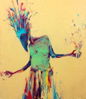 """High Priest, 2017, Acrylic on Canvas, 17""""x20"""""""