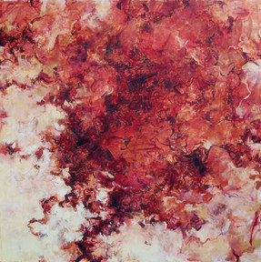 "Geological, 2015, Oli on Canvas, 48""x48"""
