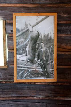Arthur Carlson with a deer