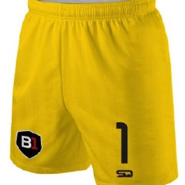 B1USA Goal Keeper Game Shorts Gold