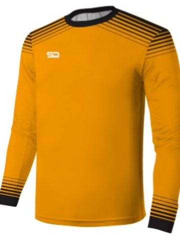 SQ Goal Keeper LS Jersey - Neon Orange-Black (include Logo and Number)