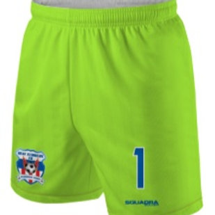 HEAT STRIKERS GK Game Shorts Neon Lime (Away)