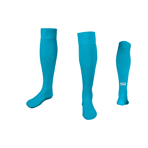 SQ Athletic Socks - 423 T Aqua (Pack of 6)