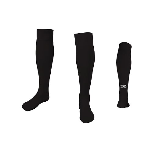 SQ Athletic Socks Black (Pack of 6)