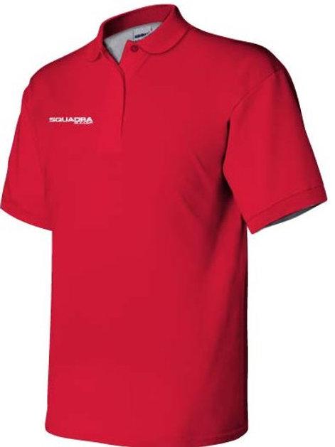 3-Button Red Polo