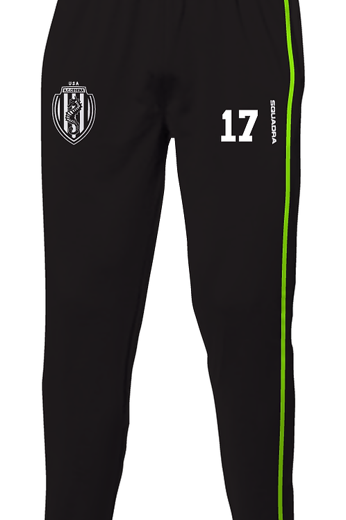 Cesena Track Pants, Black/Neon Yellow