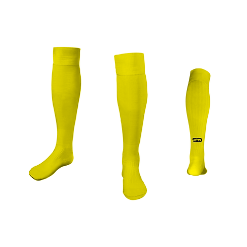 SQ Athletic Socks - AB Yellow (Pack of 6)