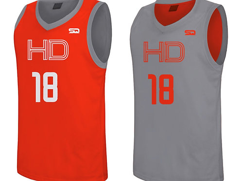 HD Reversible Jersey Orange-Grey