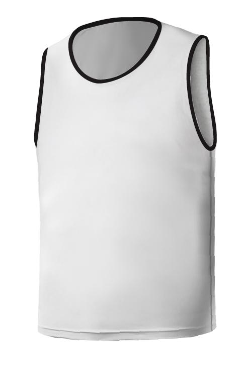 SQ Training Bib - White with Black Blank