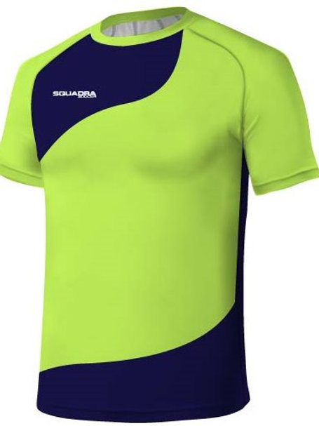 Highlighter Yellow / Royal Blue Jersey