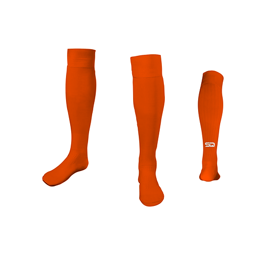 SQ Athletic Socks - N Orange (Pack of 6)