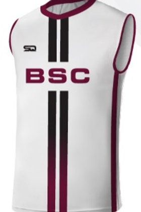 BSC Sleeveless Player Game Jersey White