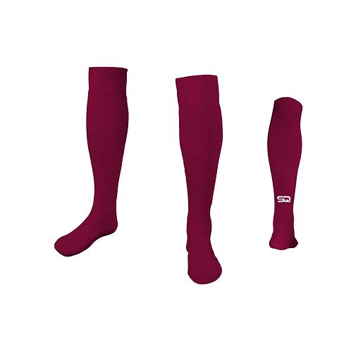 SQ Athletic Socks - G Maroon (Pack of 6)
