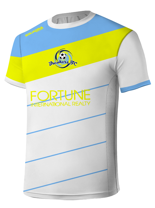 Breakers FC Player Jersey White