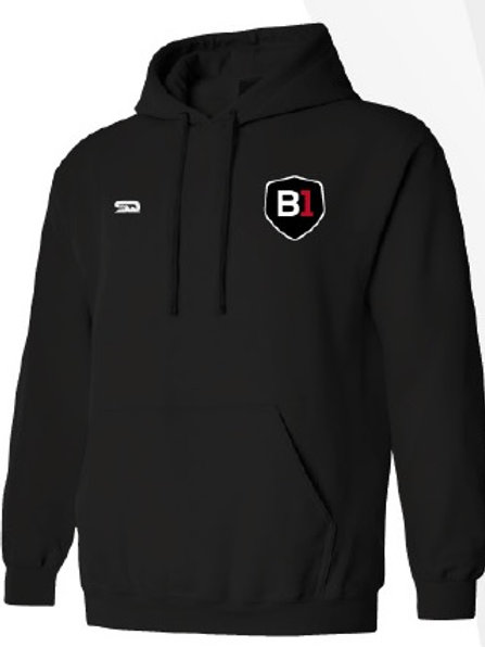 B1USA Premium Thermal Hoodie Black