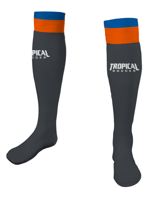 TROPICAL SOCCER Game Socks Grey
