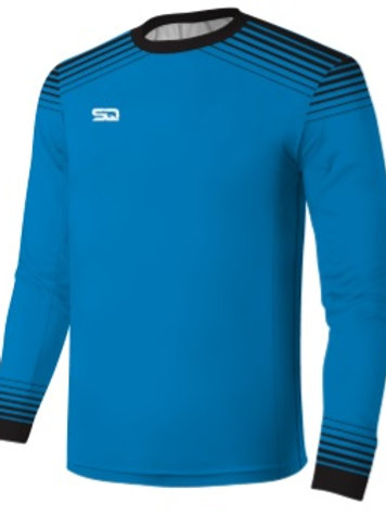 SQ Goal Keeper LS Jersey - Blue-Black (include Logo and Number)