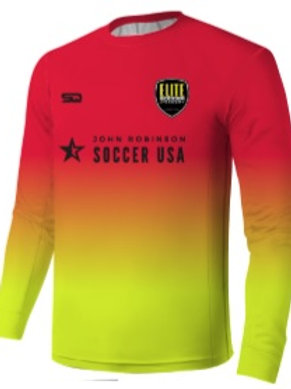 JRS-ESA Goal Keeper LS Jersey Red-neon Yellow