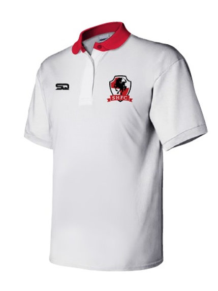 SHFC Travel Polo White-Red
