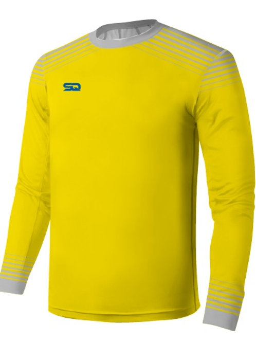 SQ Goal Keeper LS Jersey - Gold-Grey (include Logo and Number)