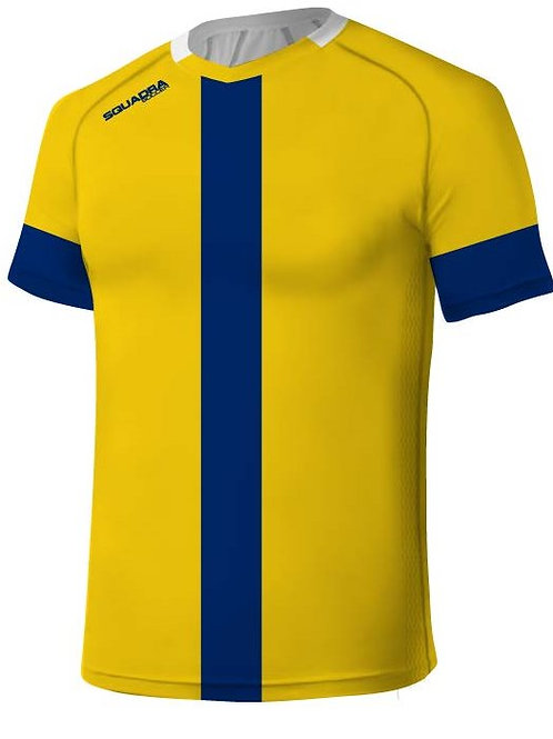 Yellow Jersey with a Royal Blue Center Stripe