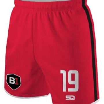 B1USA Game Shorts Red-Black