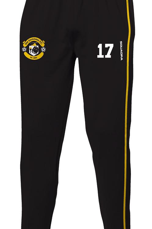 ODFC Track Pants, Black/Gold